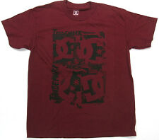 DC Boys T Shirt DC Trademark  Skate 100% Cotton Rouge DC Shoes Brand  DC