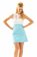 LILLY PULITZER BREAKERS LACE TOP SHIFT DRESS Breakwater Blue Breakers Shift