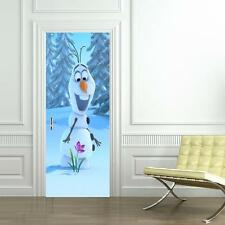 Frozen Olaf DOOR WRAP Decal Wall Sticker Mural Personalized ANY NAME Disney D08