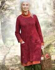 GUDRUN SJODEN  Long Printed Knitted Linen/Cotton Tunic