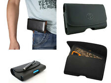 Universal Samsung Galaxy Leather Pouch Side Horizontal Case With Belt Loop Clip