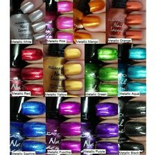 12 KleanColor Metallic Nail Lacquer Polish Choose Shade