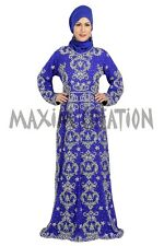 Stylist Arabian Fancy Maxi Thobe Party Wear Maghribi Caftan Dress For Women 5717