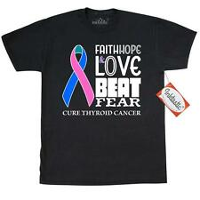 Inktastic Faith, Hope, And Love Beat Fear Cure Thryoid Cancer T-Shirt Awareness