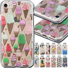 For Apple iPhone 7 Various Shockproof Cute Skin Cover Rubber Back Soft TPU Case