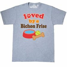 Inktastic Bichon Frise Dog Lover T-Shirt Loved By Dogs Pets Cute Gift T-shirts