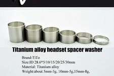 2017 Titanium Bicycle Headset Stem Spacers 5/10/15/20/25/30 mm  Spacer Washer