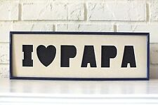 I Love Papa Photo Collage Picture Frame Family Photographs