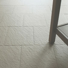 30x30cm Beige Porcelain Anti-Slip Riven Floor Tiles + Adhesive & Grout 10-20sqm