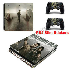 The Walking Dead Decals For Sony PS4 Slim Stickers Console Controllers Stickers