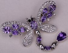 Dragonfly brooch pin austrian crystal