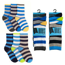 3 pairs of quality Boys Broad Stripes Design Socks