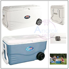 Wheeled Cooler Coleman 100 qt Camping Beach Picnic Fishing Chest Beer Cooler New