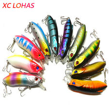1Pcs 8cm 15.5g Minnow Lure Crankbait Artificial Fishing Lures with Barbed Hooks