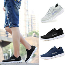 Men Boys Mesh Lace Up Sports Running Breathable Athletic Shoes Sneakers Trainers