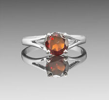 925 Sterling Silver Ring with Natural Red Garnet Gemstone Round Handcrafted eBay