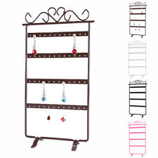 Earrings Jewelry Display Rack Metal Stand Holder Organize Showcase 48 Holes Lady