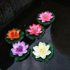 Artificial Fake Lotus Water lily Floating Flower Garden Pool Plant Ornament Chic