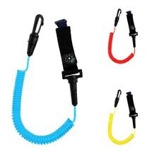 Durable Nylon Fishing Rod / Kayak Canoe Paddle Leash Coil Cord Clip with Compass