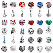 European Sterling 925 Silver Charms Beads for Lot Jewelry Bracelet Necklace US29