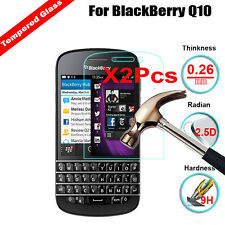 2Pcs Premium Tempered Glass Film Screen Protector Guard Cover For BlackBerry Q10