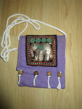 Elephant Passport Size Bag with rope strap Hand Made In Northern Thailand NEW