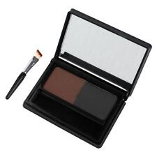 2 Color Eyebrow Powder Eye Brow Palette Cosmetic Makeup Shading Kit Brush