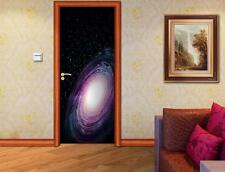 Space Galaxy DOOR WRAP Removable Decal Wall Sticker Mural Stars Nebula D170