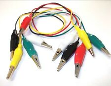 ALLIGATOR INSULATED TEST LEADS CROCODILE CLIPS DOUBLE-ENDED CABLE WIRE TESTING
