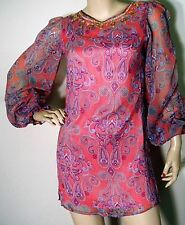 """Ladies """"New"""" Coral Paisley Print Tunic Dress from DP"""
