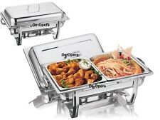 STAINLESS STEEL CHAFING DISH SET FOOD WARMER BUFFET FOOD PANS FUEL 8.5L PARTY