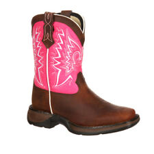 Durango Lil'  Adolescent Let Love Fly Western Boot Brown And Pink DWBT094