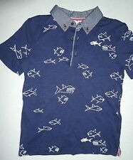 BNWT BOYS SIZE 5 TARGET COLLARED BITING FISH SHIRT TOP NEW