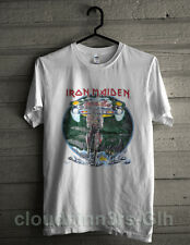 VINTAGE RARE! 1980s 1987 PAPER THIN! IRON MAIDEN SOMEWHERE IN TIME TOUR T SHIRT