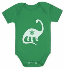 Christmas Dinosaur - Snowflake New Years Dino Cute Baby Bodysuit Gift