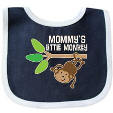 Inktastic Mommy's Little Monkey Baby Bib Mommy Animals Jungle Cute Childs Kids I