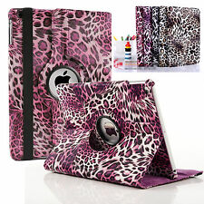 Leopard Leather 360 Degree Rotating Smart Stand Case Cover For APPLE iPad Models