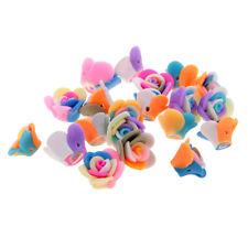 20 Pieces Pretty Mixed Polymer Clay Flower Spacer Loose Beads Jewelry Making