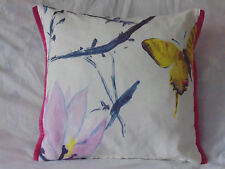 Designers Guild Fabric Madame Butterfly Peony 100% Linen Cushion Cover