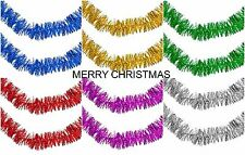 SQPro Christmas Tinsel Garland Fine Cut 2 metres (6.5ft) Available in 6 Colour