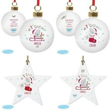 PERSONALISED 1st Christmas Tatty Teddy Christmas Tree Bauble Decoration Girl Boy