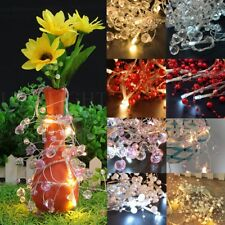 10LED Fairy String Light Colorful Beads Battery Operated Lamp Wedding Xmas Party