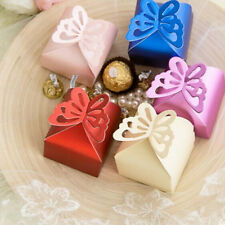 50 Pcs Butterfly Favor Gift Candy Boxes Hollow Butterfly Style for Wedding Party