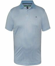 Tommy Hilfiger Tommy Hilfiger Mens Light Blue / White Striped Golf Polo Shirt