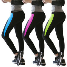 Womens Colours Yoga Fitness Leggings Running Gym Sports Pants Trousers Exercise