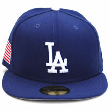 Los Angeles Dodgers New Era American Patch Flag 59Fifty Wool Fitted Hat - Blue