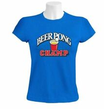 Beer Pong Champ Women T-Shirt college game drinking drunk party cup ball usa