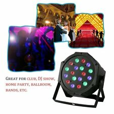 18W 18LED RGB Mixing Colors Stage Light Wedding Party DJ Club Light With Fan BS