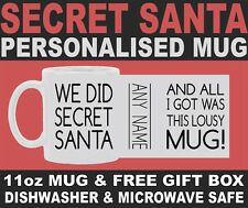 SECRET SANTA - Best Personalised Mug Present Funny Novelty Mug + Free Gift Box