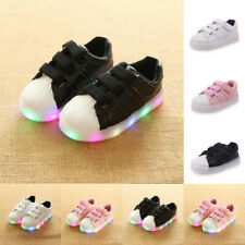 Kids Boys Girls Toddler Light Up Shoes LED Flashing Luminous Sneakers Trainers